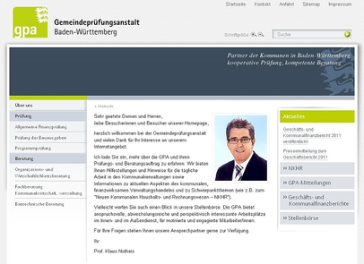 Screenshot von www.gpabw.de